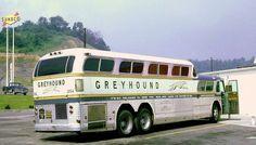 Vintage Greyhound Humpback Bus