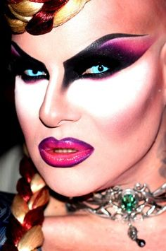 The fabulous Nina Flowers. Drag-queen, make-up goddess and style icon.