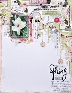 Welcome Spring~Youre Late!by Emma Trout.  CSI#70 using Webster's Pages.