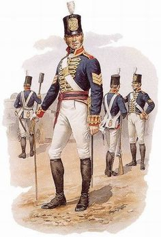 War of 1812 Uniforms American ny | Sergeant, Royal Regiment of Artillery, 1806-1812