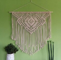 Necklace Macrame Wall Hanging | Inspiring Macrame Wall Hangings Ideas For Your Home