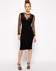 French Connection Marie Dot Body-Conscious Dress