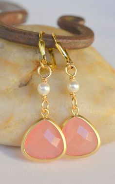 coral pink + gold. @Sarah Chintomby McBrair these look like a Love of Pretty number!