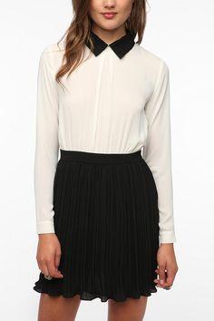 Pins and Needles Chiffon Typist Dress  #UrbanOutfitters