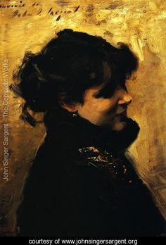 Sargent's Madame Errazuriz I. I can feel the thick, texture of the brush strokes.
