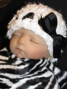 Baby Girl Hat  Photo Prop  Newborn  White Beanie by pixieharmony, $16.95