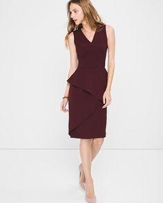 White House | Black Market Asymmetric-Peplum Sheath Dress