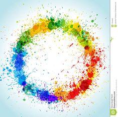 colorful paint splatter border - Поиск в Google