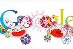 Google Doodles - Google Search Made by Murakami Takashi. He made this to celebrate the'First Day of Summer', June 21, 2011.  Takashi's style is often vibrant and playful which is appealing to a wide audience.