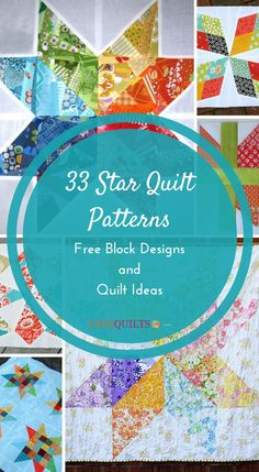 35 Free Star Quilt Patterns: Free Block Designs and Quilt Ideas Love classic quilt designs? Then these free star quilt patterns are exactly what you've been searching for! Hexagon Quilt Pattern, Hand Quilting Patterns, Beginner Quilt Patterns, Quilt Block Patterns, Free Motion Quilting, Quilting Tutorials, Pattern Blocks, Quilting Projects, Quilting Designs