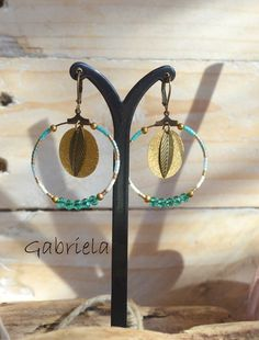 Boucles d'oreilles Gabriela, collection Sunset