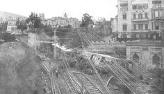 """10 Abril, 1925; """"Una nueva catastrofe ferroviaria ha llenado de luto a Barcelona. El tren de Sarriá a Las Planas descarriló a la salida del tunel de la Bonanova, y el convoy, a enorme velocidad, fue a estrellarse contra un muro. Veintidós muertos y numerosos heridos son el tragico balance de la catastrofe, que ensangretó un dia de fiesta y sembró la desolación"""" Emilio BcnAmics de Barcelofilia http://barcelofilia.blogspot.com/"""