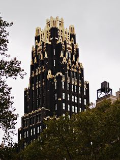 American Radiator Building in New York. Art Deco with Gothic detailing.