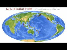 Earthquake map time-lapse - Time-lapse map of the world's earthquakes from February 2009 through February 2010.
