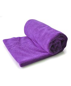 Lifestyle Products LLC Purple Yoga Towel | This highly-absorbent, fast-drying and machine-washable towel helps yogis gain traction for the perfect practice of postures.
