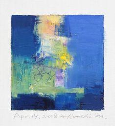"Apr. 14, 2018 9 cm x 9 cm (app. 4"" x 4"") oil on canvas © 2018 Hiroshi Matsumoto www.hiroshimatsumoto.com"