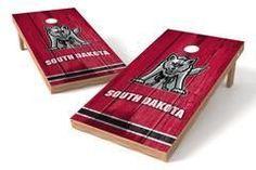 South Dakota Coyotes Single Cornhole Board - Vintage