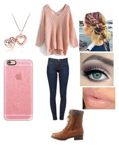 """""""Sweater weather #2"""" by friends-forever-and-always ❤ liked on Polyvore featuring Charlotte Russe, Chicwish, Frame Denim and Casetify"""
