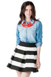 Balcones Textured Skirt