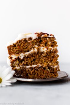 Here is my favorite carrot cake recipe. It& simple, sweet, moist, flavorful, and topped with cream cheese frosting! Carrot Recipes, Healthy Recipes, Easter Recipes, Baking Recipes, Cake Recipes, Dessert Recipes, Simple Recipes, Healthy Sweets, Easter Ideas