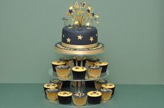 black and gold cake - Google Search