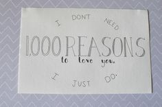 """Hand Lettered - """"1,000 Reasons"""""""
