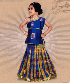 indian children's pattu pavadai designs - Yahoo Image Search Results