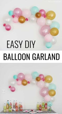 DIY balloon garlands are easy and affordable to make. Perfect for baby showers, birthday parties, or New Year's Eve bashes, balloon color schemes can be totally customized for the occasion.