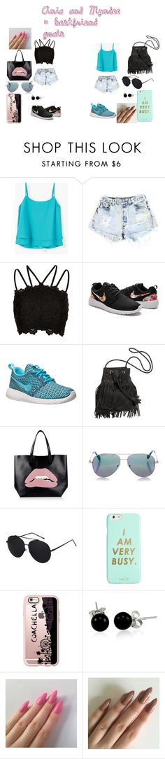 """""""Untitled #26"""" by aniapenguin on Polyvore featuring MANGO, Levi's, River Island, NIKE, RED Valentino, Cutler and Gross, ban.do, Casetify and Bling Jewelry"""