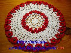 RECIPES OF CROCHÊ: Centerpiece in Crochet - recipe