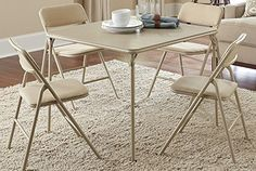 Folding Table and Chair Set 5-Piece Cosco Products – Dining Room Furniture Sets