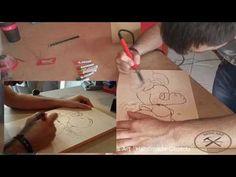 Πυρογραφία σε ξύλο ''Yoshi'' ( Burn art with pyrography Yoshi ) - YouTube Pyrography, Yoshi, Paper Shopping Bag, Make It Yourself, Artwork, Youtube, Blog, Work Of Art, Auguste Rodin Artwork