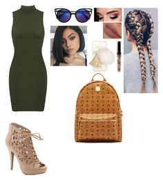 """Kylie Jenner inspired outfit..👑"" by coco2259 ❤ liked on Polyvore featuring Apt. 9, Ashlyn'd and MCM"