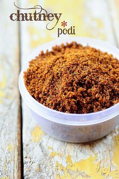 Chutney Podi Recipe - Coconut Chutney Powder Recipe for Idli, Dosa, Rice - Edible Garden Veg Recipes, Indian Food Recipes, Vegetarian Recipes, Cooking Recipes, Easy Recipes, Masala Powder Recipe, Masala Recipe, Barbacoa, Sauces