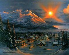 120 Best Jesse Barnes Images Christmas Paintings Christmas Scene