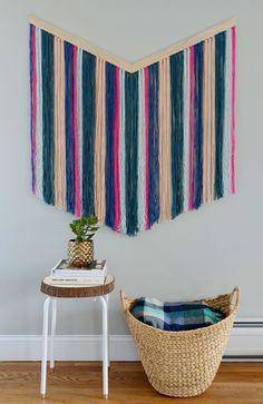 How-To: Easy DIY Chevron Yarn Wall Hanging