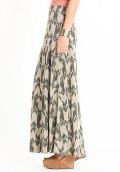 cactus print maxi skirt. potential maternity wear too!