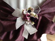 Handmade fabric corsages = www.tabletodinefor.com