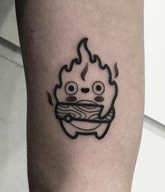 Check out these cute pop culture tattoos! Featuring anime tattoos such as Princess Mononoke, My Neighbor Totoro, Howl& Moving Castle & Spirited A. Mini Tattoos, Trendy Tattoos, Body Art Tattoos, Small Tattoos, Sleeve Tattoos, Cool Tattoos, Tatoos, Arrow Tattoos, Tatuaje Studio Ghibli