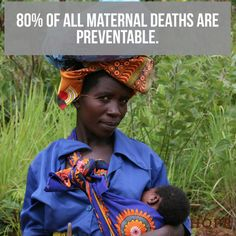 Through access to education, timely prenatal and postnatal care, skilled birth attendance during delivery and emergency care to deal with post-partum complications, 80% of all maternal deaths are preventable. http://qoo.ly/hbbsp