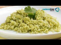 Receta de como preparar arroz verde. Receta de arroz / Comida mexicana / Arroz verde