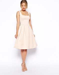 Asos Debutante Full Midi Dress #fashion