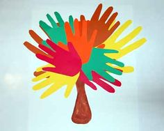 Handprint Tree - Pinned by #PediaStaff.  Visit http://ht.ly/63sNt for all our pediatric therapy pins
