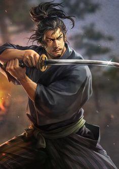 明日発売「信長の野望・大志」の新規武将イラスト126枚を一挙掲載。天下取りに挑む者たちの面構えをご覧あれ - 4Gamer.net Ronin Samurai, Samurai Warrior, Samurai Artwork, Ninja Art, Miyamoto Musashi, Japanese Warrior, Dynasty Warriors, Samurai Tattoo, Fantasy Inspiration