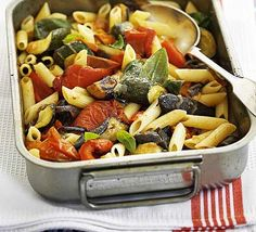 This veg packed pasta dish provides all of your 5-a-day - and it's delicious!