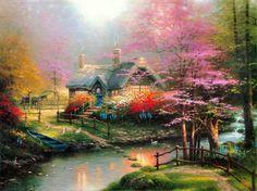 Stepping Stone Cottage by Thomas Kinkade