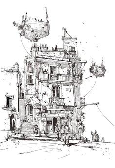 """Ian McQue en Twitter: """"Sketchbook: 'Terminus'. http://t.co/GygfeuPK6m"""""""