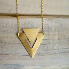 Image of Art Deco Shape Necklace