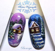 News Holiday Nail Designs, Holiday Nail Art, Winter Nail Designs, Christmas Nail Art, Nail Art Designs, Snow Nails, Xmas Nails, Winter Nails, Nail Ink