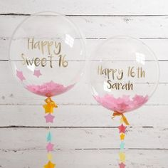 Personalised Sweet 16 Birthday Confetti Balloon